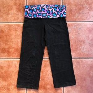 PINK Victoria's Secret Capri Leggings Leopard Band